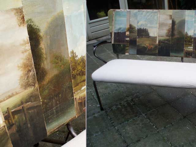 Old Painting Canvases   For Kitchen Bench