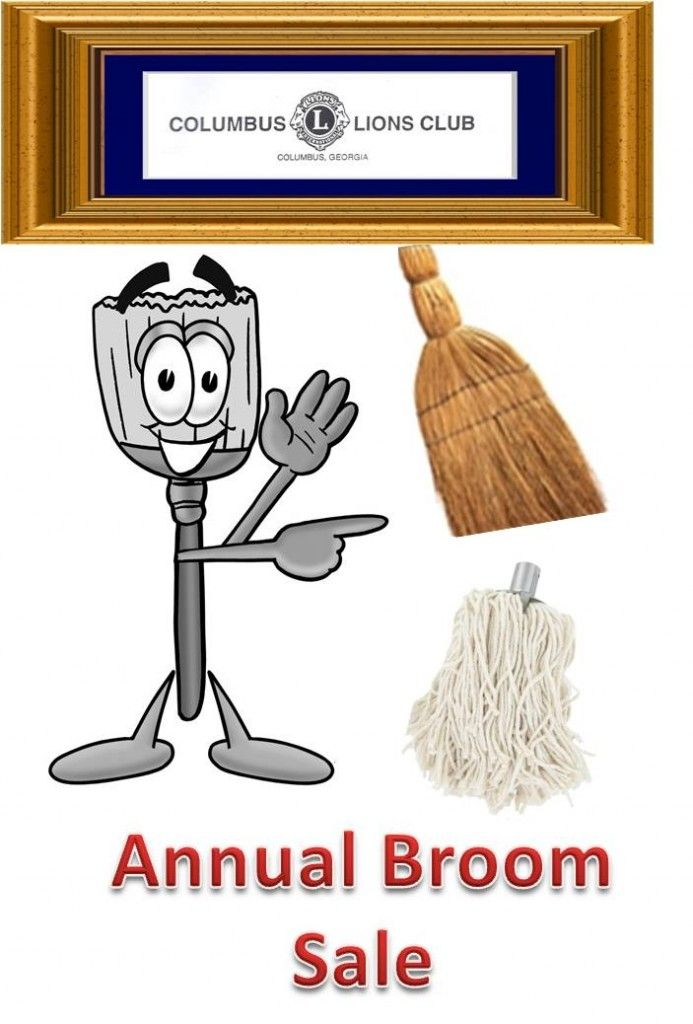 Columbus Lions Club Annual Broom Sale We Are Selling Our Popular Straw Brooms And Mops