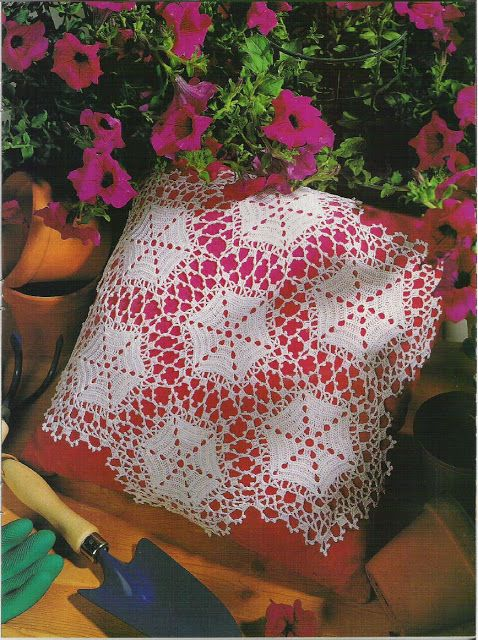 'Pride of the Veranda' doily~ join motifs as you go ~ free pattern and graph