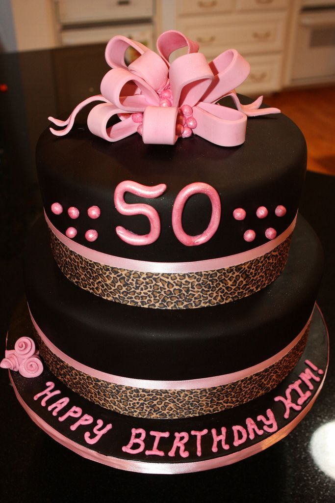 A fabulous 50th birthday cake idea for a special lady See more