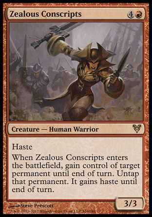 Zealous Conscripts Magic The Gathering The Gathering Magic The Gathering Cards