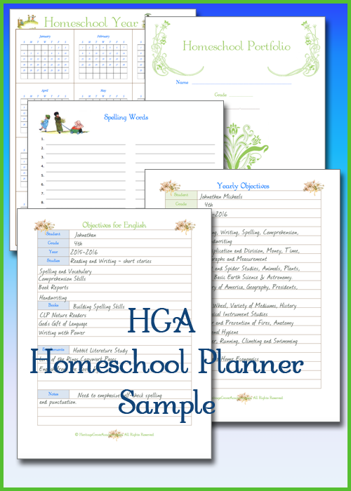 Plan and Organize Your Homeschool with 266 Page Planner