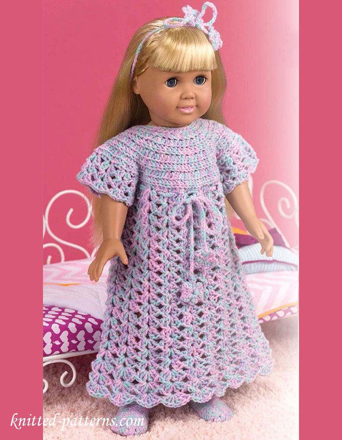Hermosa Patrones Que Hacen Punto Gratuitas Para Muñecas Barbie ...