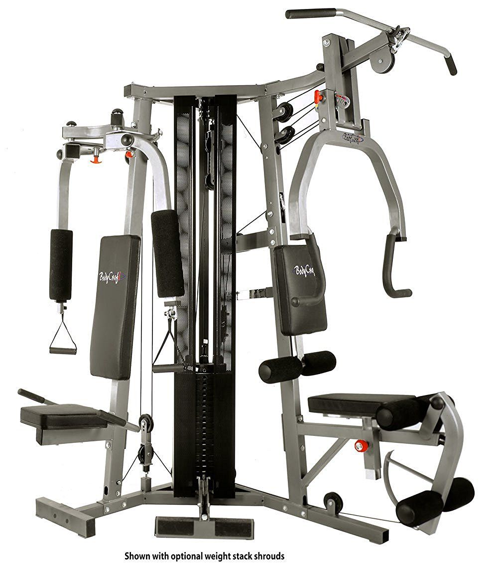 A multi gym consists of many exercise machines all in one
