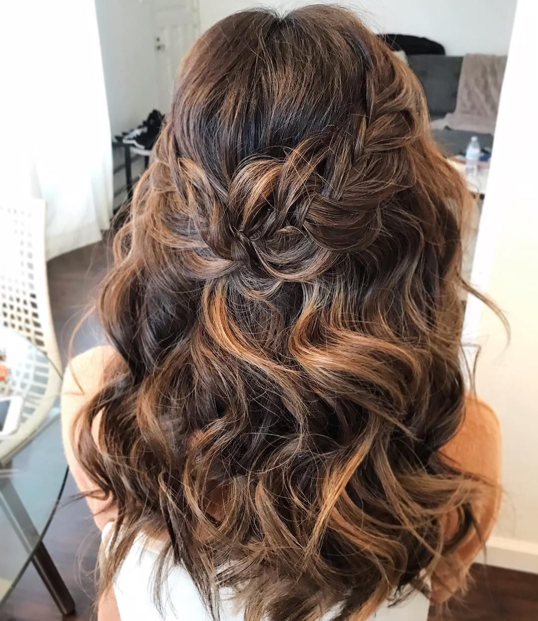 Beautiful Braided Half Up Half Down Hairstyle