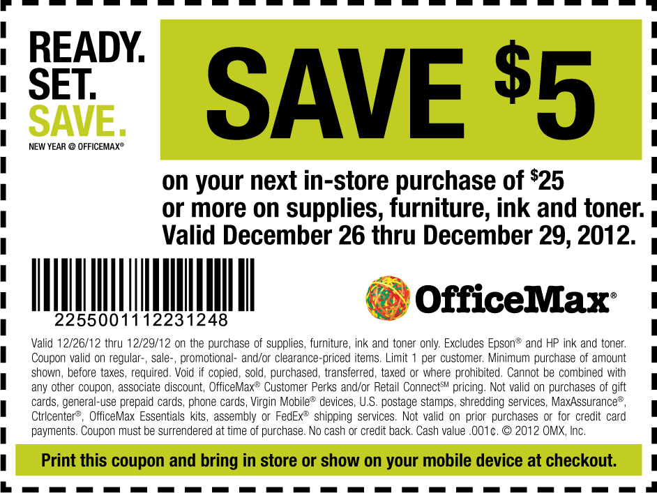 Officemax Deal Free Printable Coupons Office Max Coupons