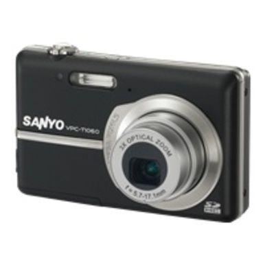 Sanyo VPC-T1060 Compact Digital camera - 10.0 Mpix - 2.8-inch LCD - 3x Optical Zoom - 640 x 480 Video - Black