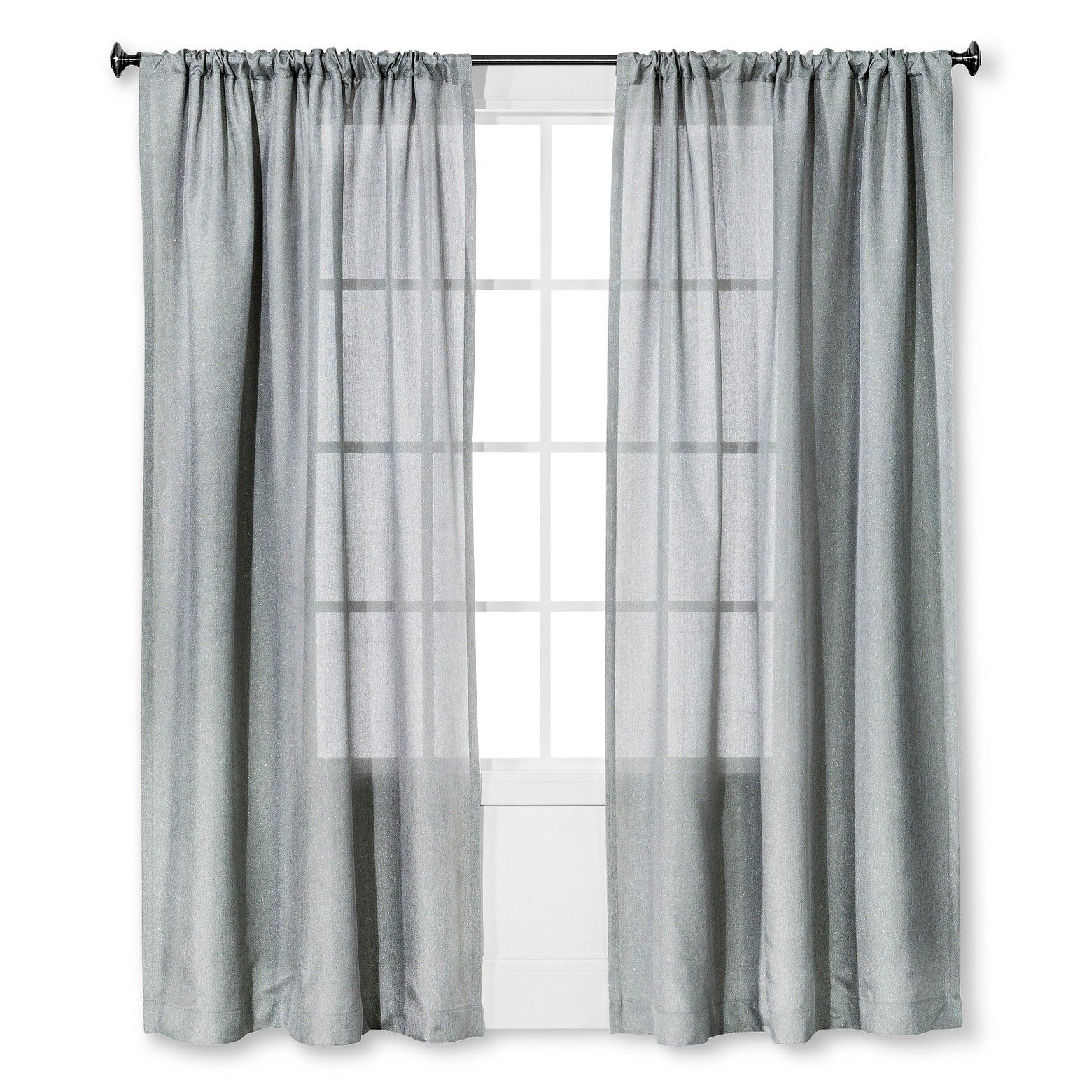 Curtains We Bought From Target For Bedroom Threshold Metallic Curtain Panel The Sheer Fabric Has Lasting Visual Appea Panel Curtains Window Curtains Curtains
