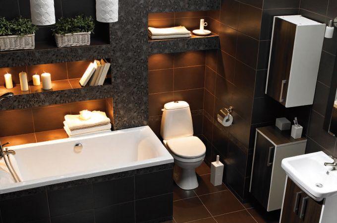 Mala Lazienka 7 Sposobow Na Jej Aranzacje Castorama Budujesz Remontujesz Urzadzasz Alcove Bathtub Bathtub Bathroom