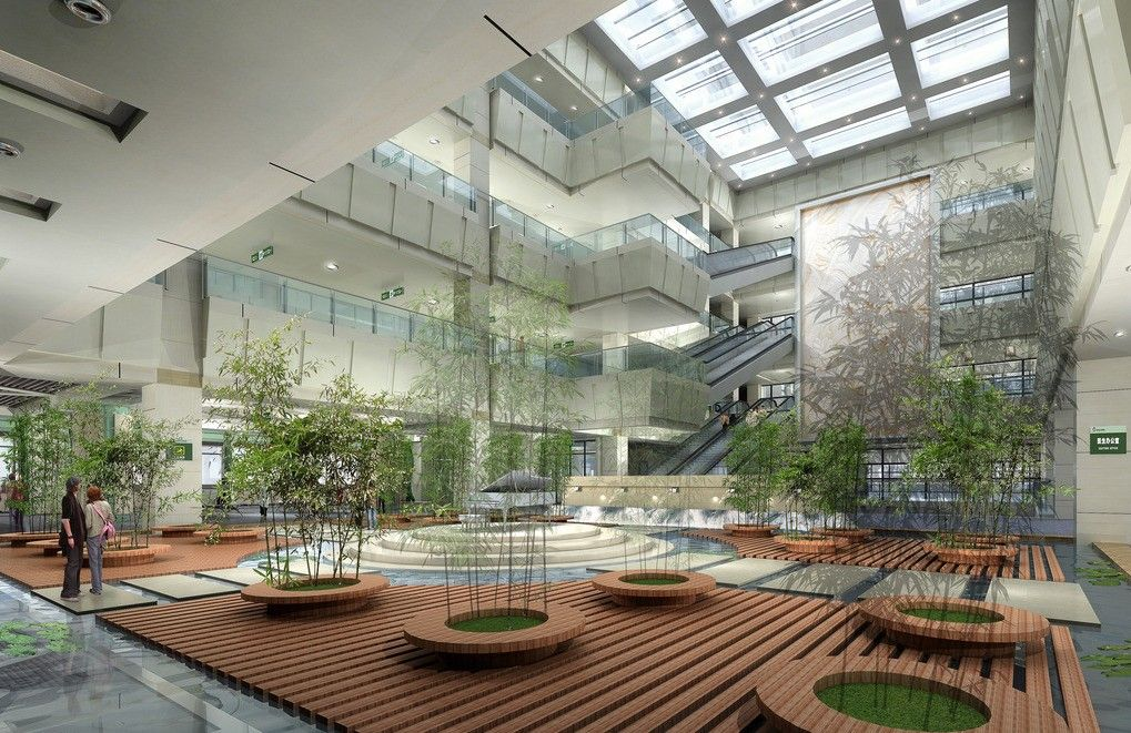 Hospital Indoor Greening 1019 661 Architecture Inspiration Pinterest