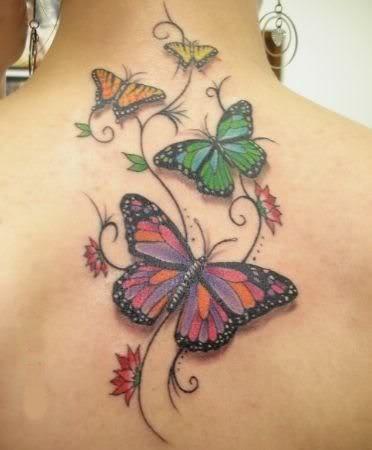 Mi Tatoo Favorito Tatuajes De Flores Y Mariposas Mariposas Para Tatuar Tatuajes De Mariposas En La Espalda
