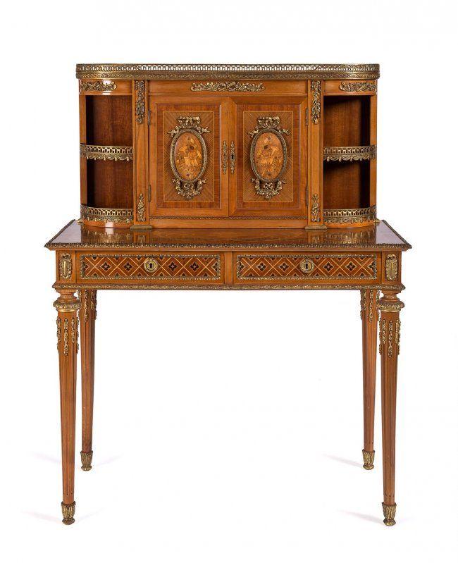 Louis XVI style marquetry & ormolu ladies dresser. 8/24, 8pm