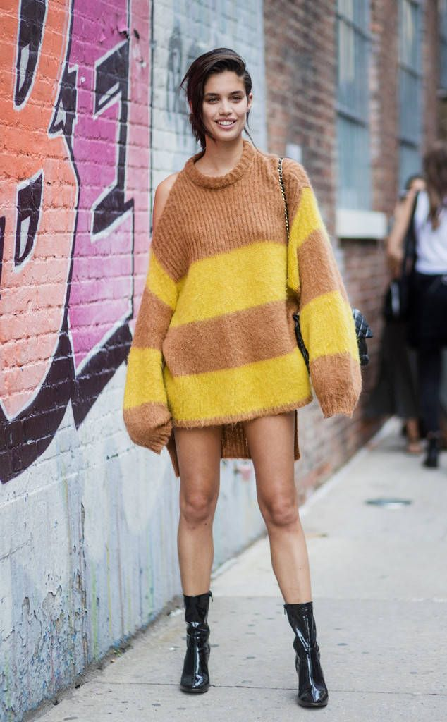 Sara Sampaio From Best Celeb Street Style From Nyfw Spring