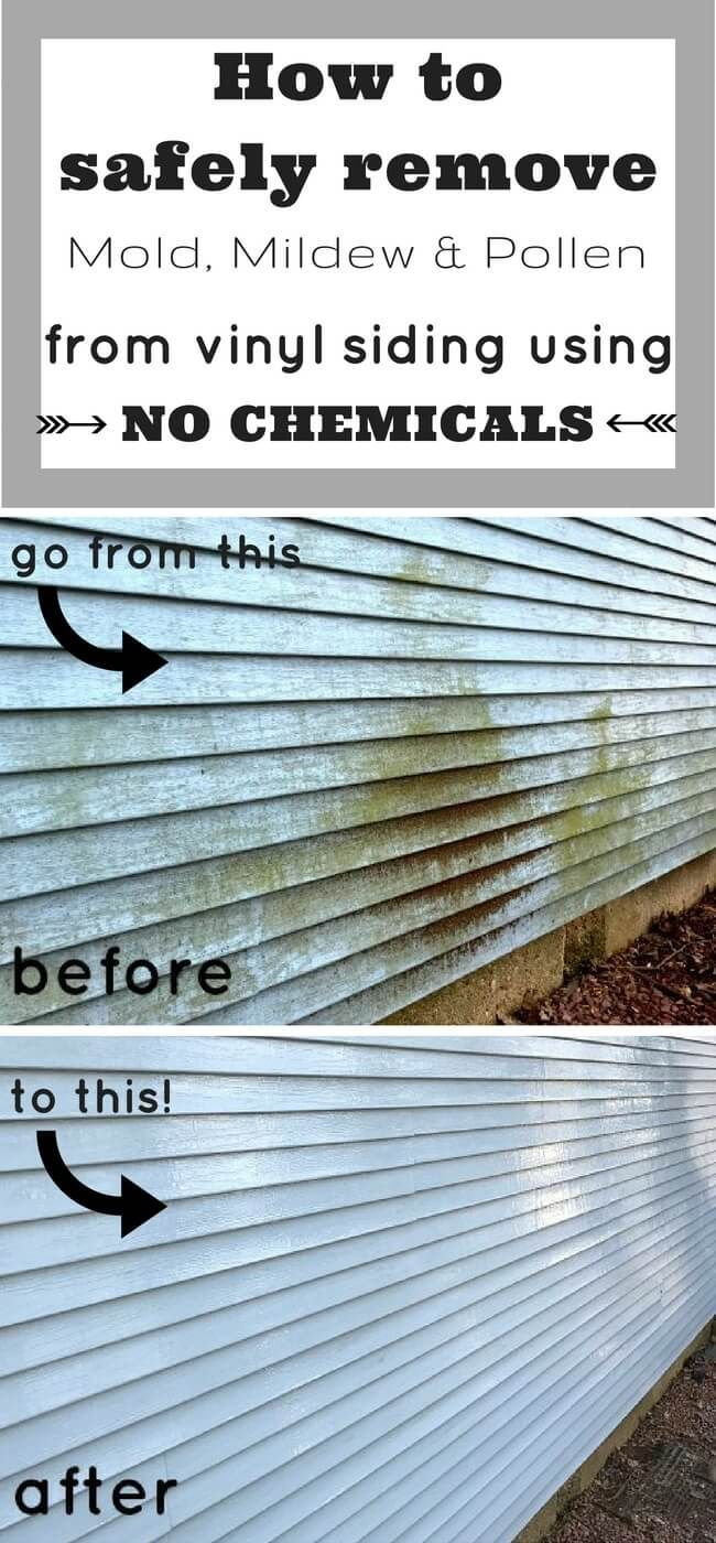 How To Clean Vinyl Siding With No Chemicals Cleaning Vinyl Siding Vinyl Siding Clean Siding