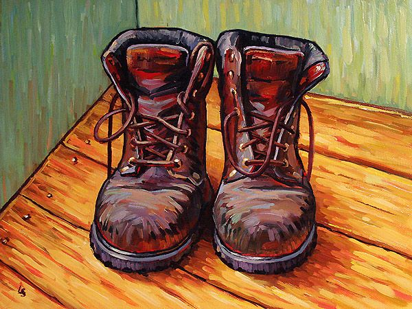 gogh painting search shoe paintings