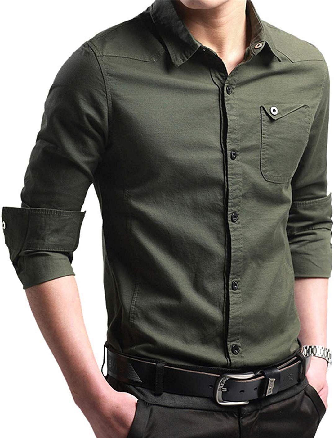 Xtapan Men S Casual Slim Fit Shirt Cotton Long Sleeve Button Down Dress Shirt Price 24 99 Mens Shirts Men Casual Slim Fit Shirt [ 1410 x 1077 Pixel ]