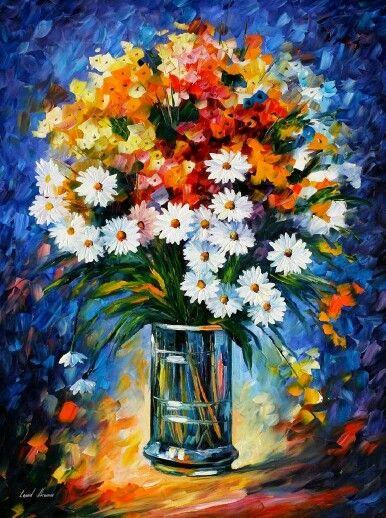 Pin By Senirget On Art Flower Painting Oil Painting Flowers Flower Art