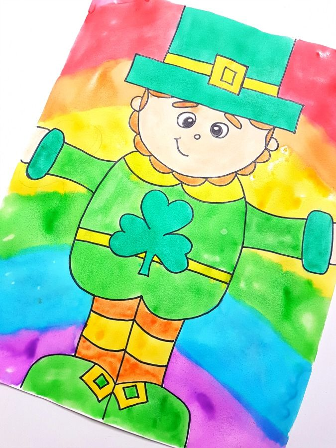 March Art For Your Walls How To Draw A Leprechaun Saint