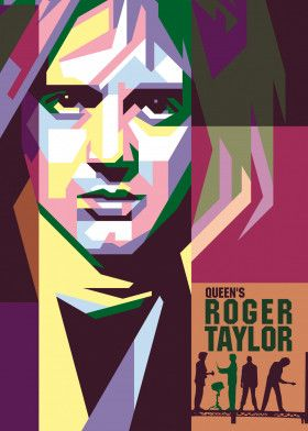 Queen Roger Taylor #Vector #Design #Poster #Illustration #Background | Displate thumbnail