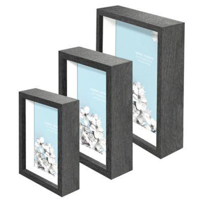 Swing Designa Chroma Shadow Box Frame In Charcoal Grey Bedbathandbeyond Com Shadow Box Frames White Shadow Box Large Shadow Box