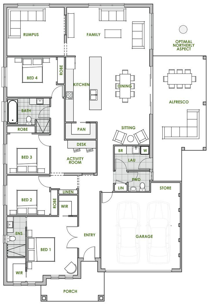 The Ningaloo Offers The Very Best In Energy Efficient Home Design From Green Homes Australia Take A Lo Eco House Plans Floor Plan Design House Plans Australia