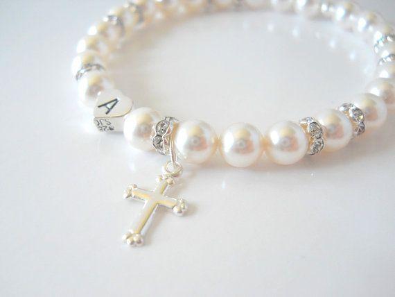 Baptême Bracelet Fleur Fille Cadeau Fille De Fleur Bijoux