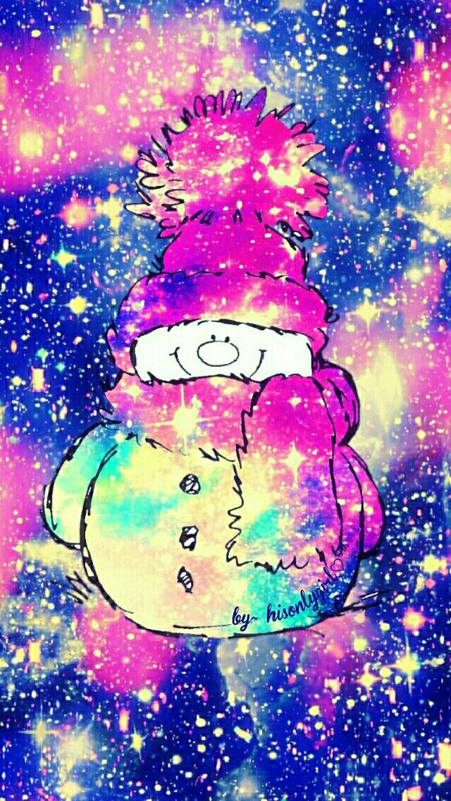 Happy holidays snowman galaxy wallpaper i created for the - Galaxy christmas wallpaper ...