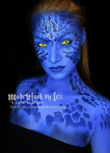 X-Men, Mystique - Makeup/Halloween/Costume
