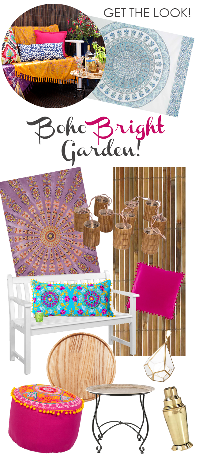 Get The Look: Glam Boho Brights Garden Patio (ft. Giveaway!) By Kimberly  Duran