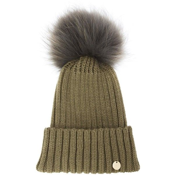 f0668f0e4d9ea Yves Salomon Fur Pom Pom Beanie ( 110) ❤ liked on Polyvore featuring  accessories