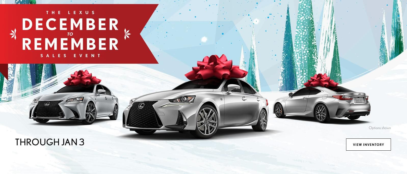 The Lexus December To Remember Sales Event. For A Limited Time.