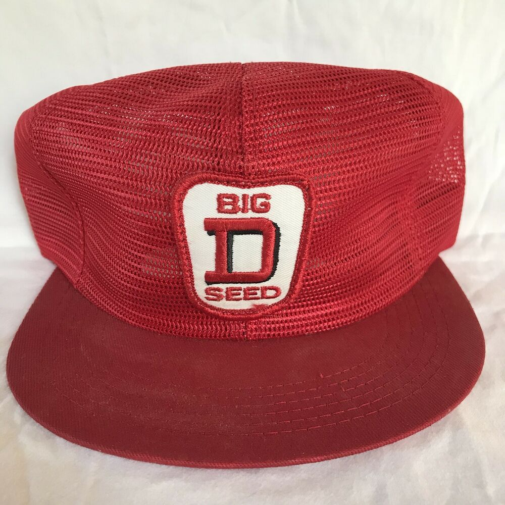 Vintage K Brand Products Big D Seed Snapback Trucker Hat Usa All Mesh Cap Patch Kbrand Truckerhat Casual Mesh Cap Mesh Trucker Hat Mesh Trucker Cap