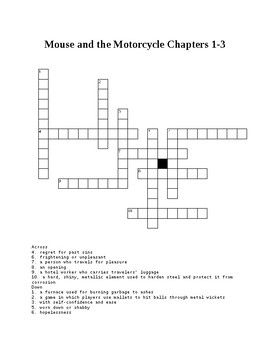 Mouse And The Motorcycle Crossword Puzzle Great Audio Books For
