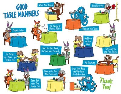 Help for parents to remind kids of the good manners they for 10 good table manners