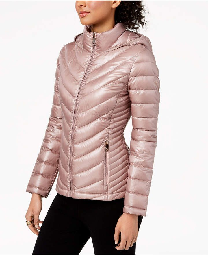 CoatProducts Puffer Hooded Packable Petite Klein Calvin DYHIW9E2