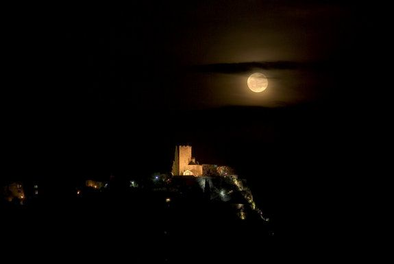 WOW. Tourette-Levens, near Nice, France. The Easter moon or Hunter's moon.