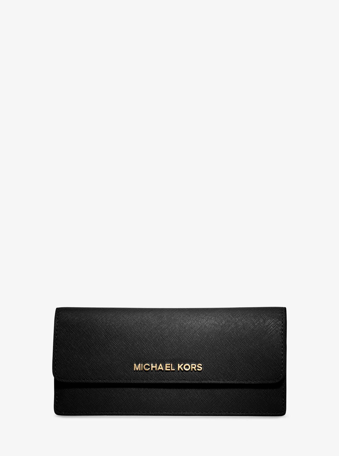 6f7a18824b02 MICHAEL KORS Jet Set Travel Slim Saffiano Leather Wallet. #michaelkors #