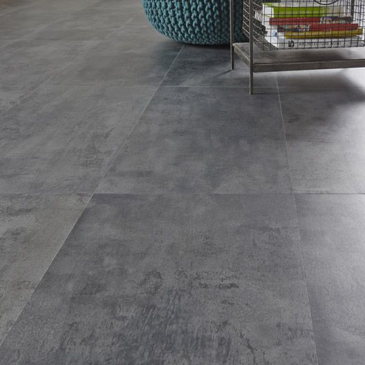 Dalle pvc clipser clic m tal zinc artens 32 4 x 65 5 cm for Parquet pvc a clipser