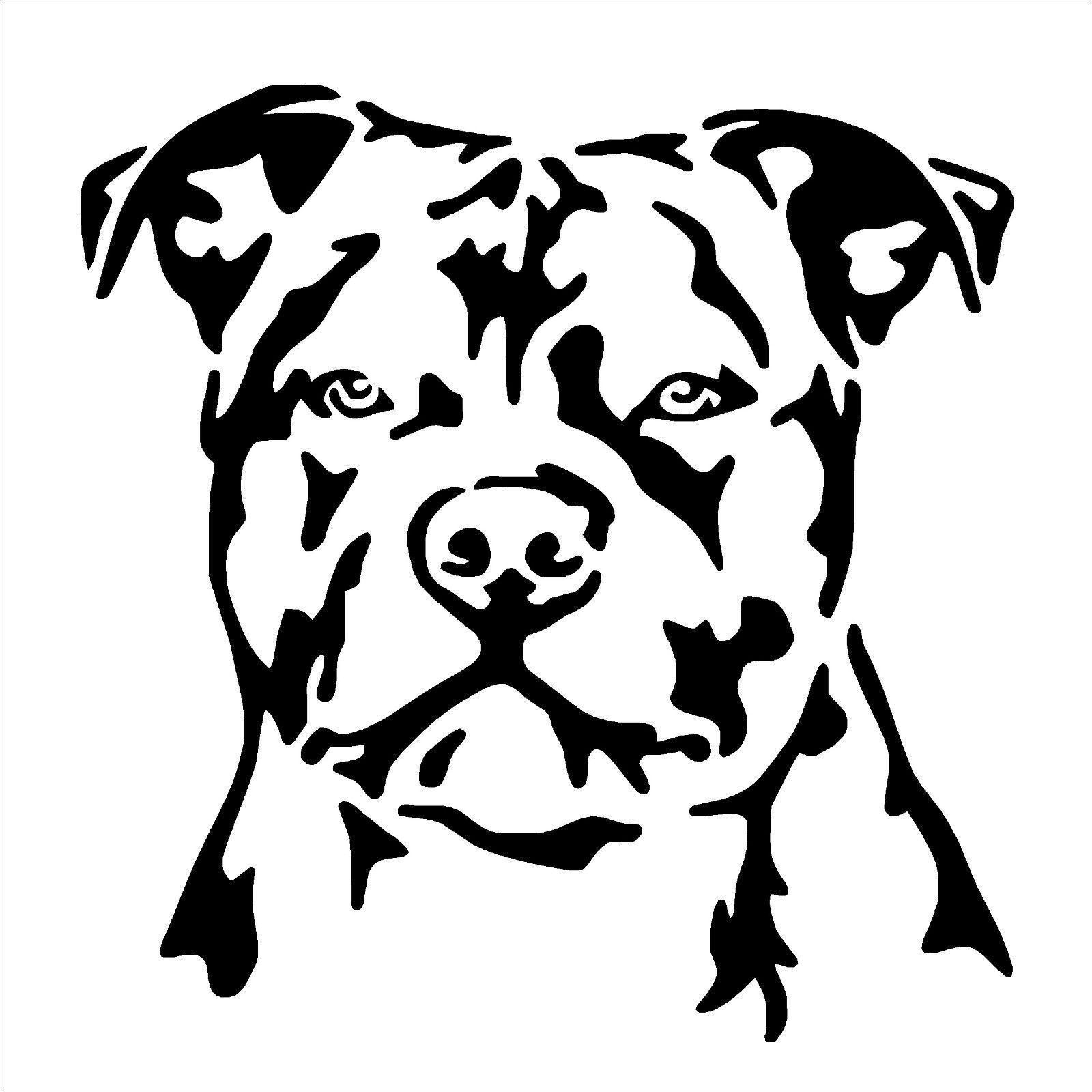 Details About Staffordshire Bull Terrier Dog Vinyl Wall Art Sticker Decal Staffy