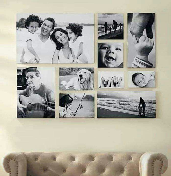 Idea para decorar con fotos familiares Hogar Pinterest Decorar