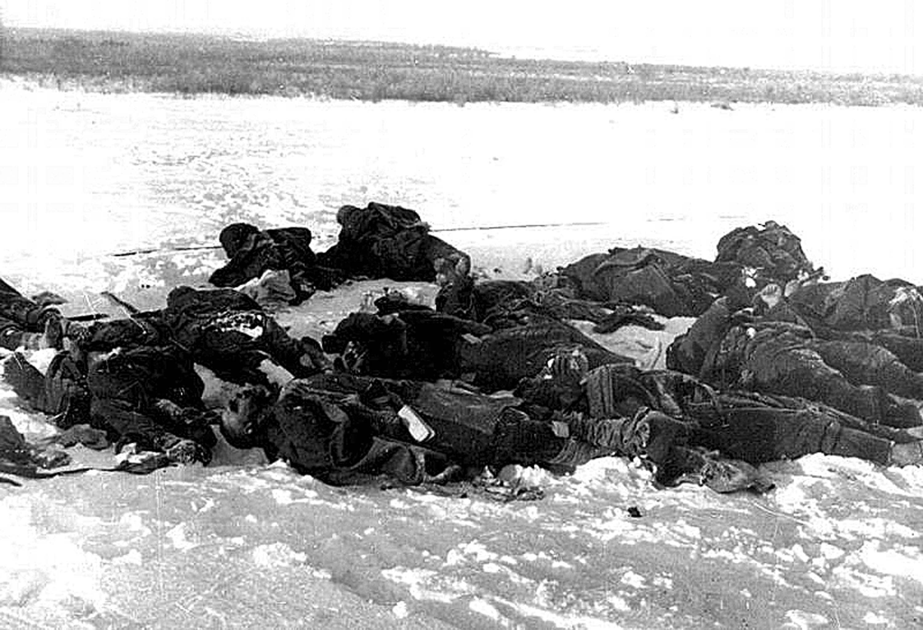 The dead Soviet soldiers