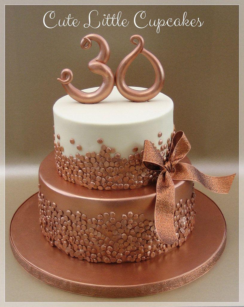 Gold Birthday Cake Bolos De Aniversario 30 Bolo De 30 Anos