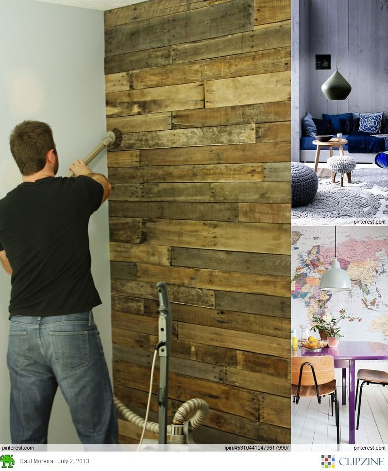 Painted Walls To Accent Pallet Wall: Pallet Accent Wall, Home