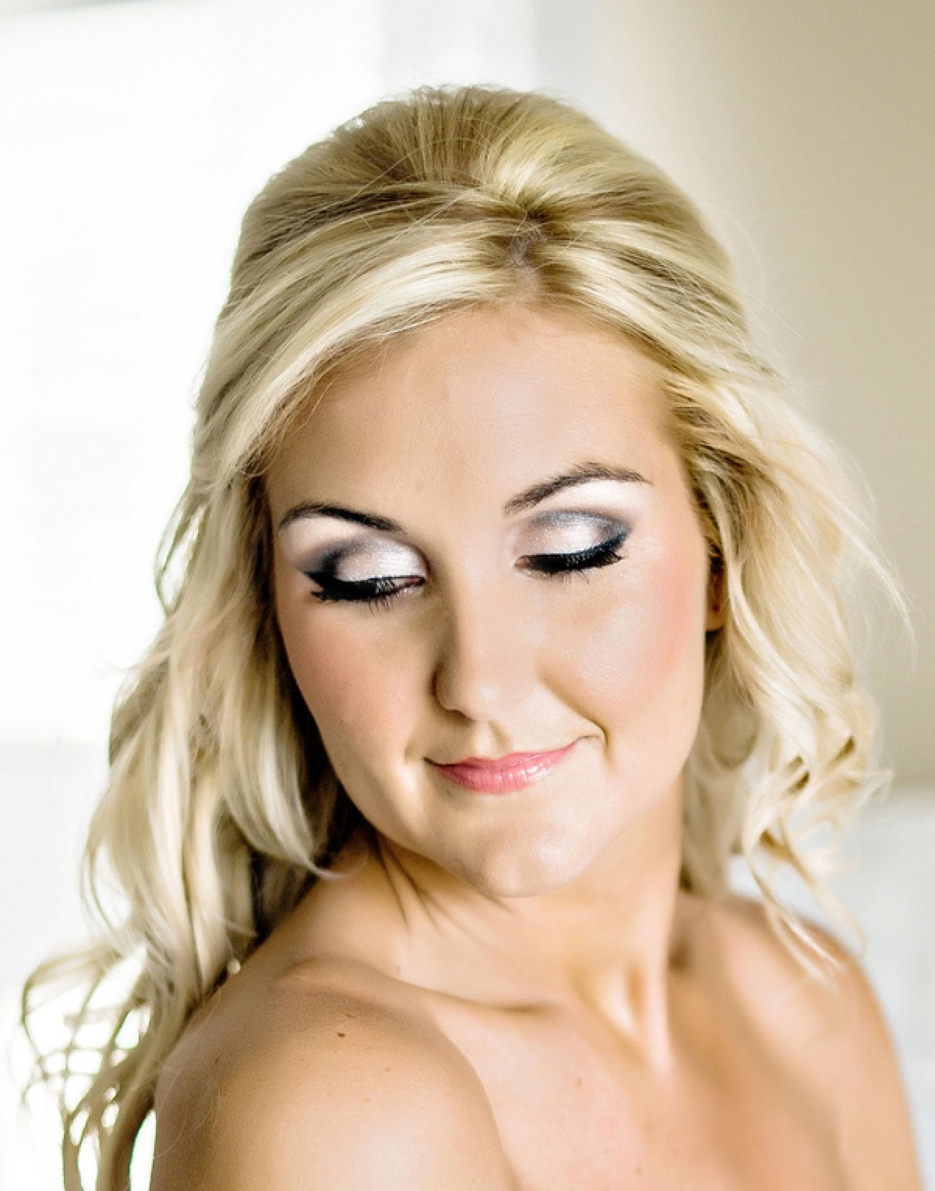 wonderfully chic barn wedding - athens, ga | wedding makeup, smoky
