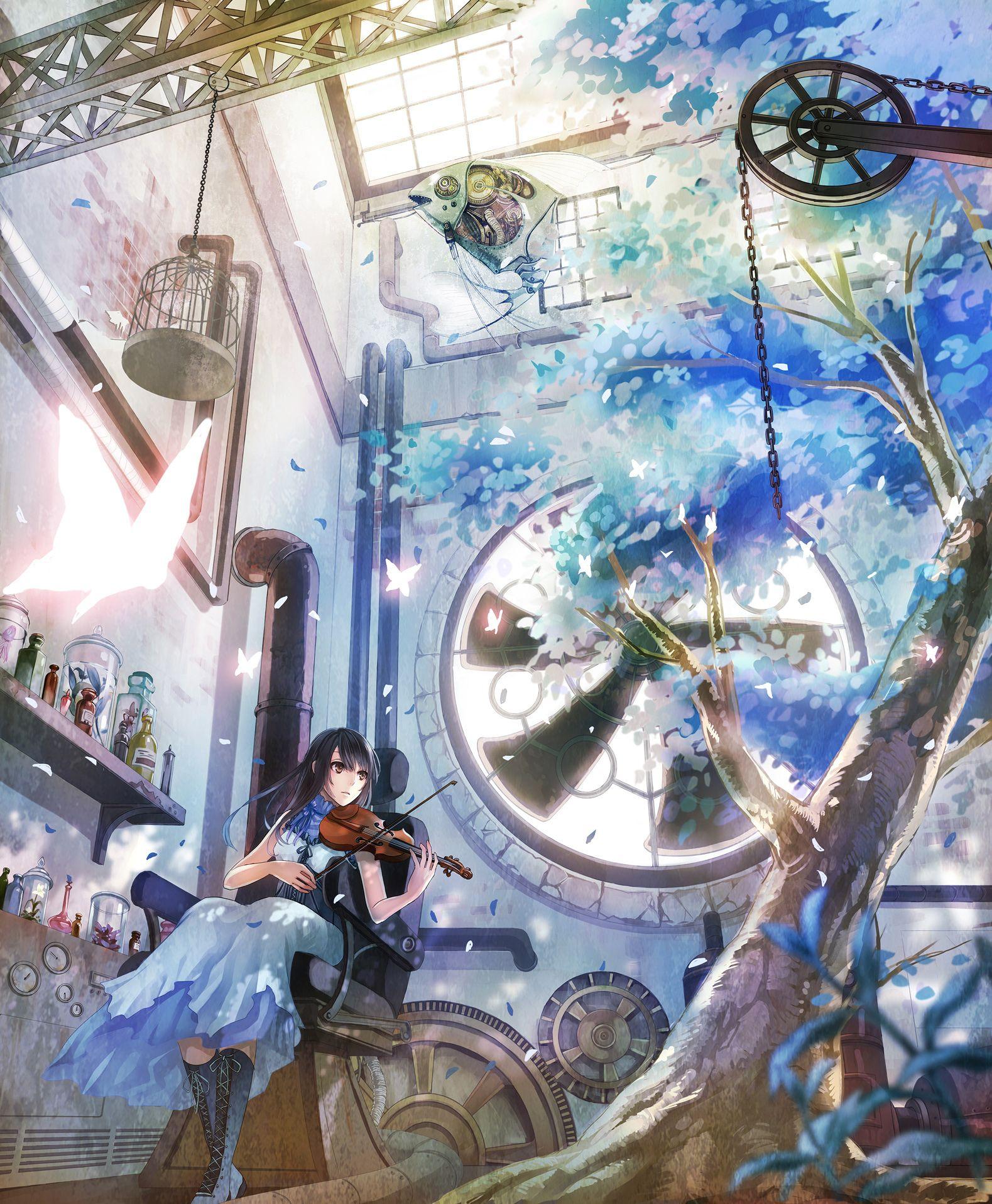 """Blue Room"" Original Illustration By Kirinosuke #anime"