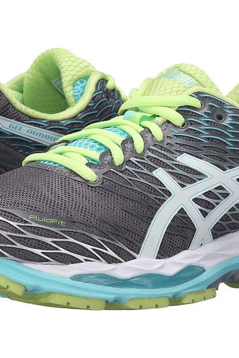 ASICS Gel-Nimbus 18 (Titanium/White/Turquoise) Women's Running Shoes -