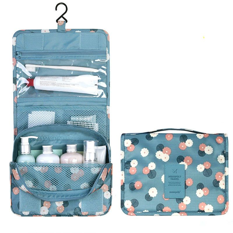 High Quality Cosmetic Cover Polyester Women Fashion Cosmetics Cases Make Up  Bag Toiletry Bags For Women 30805eb07d6af