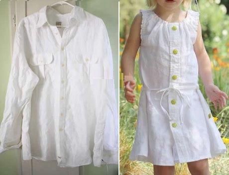 Hogar De Camisa Reciclado Decora Niña Vestido Tu Recicla IqEwzx