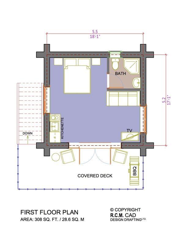 Pin On Beach House 308 Sq Ft Floor Plan
