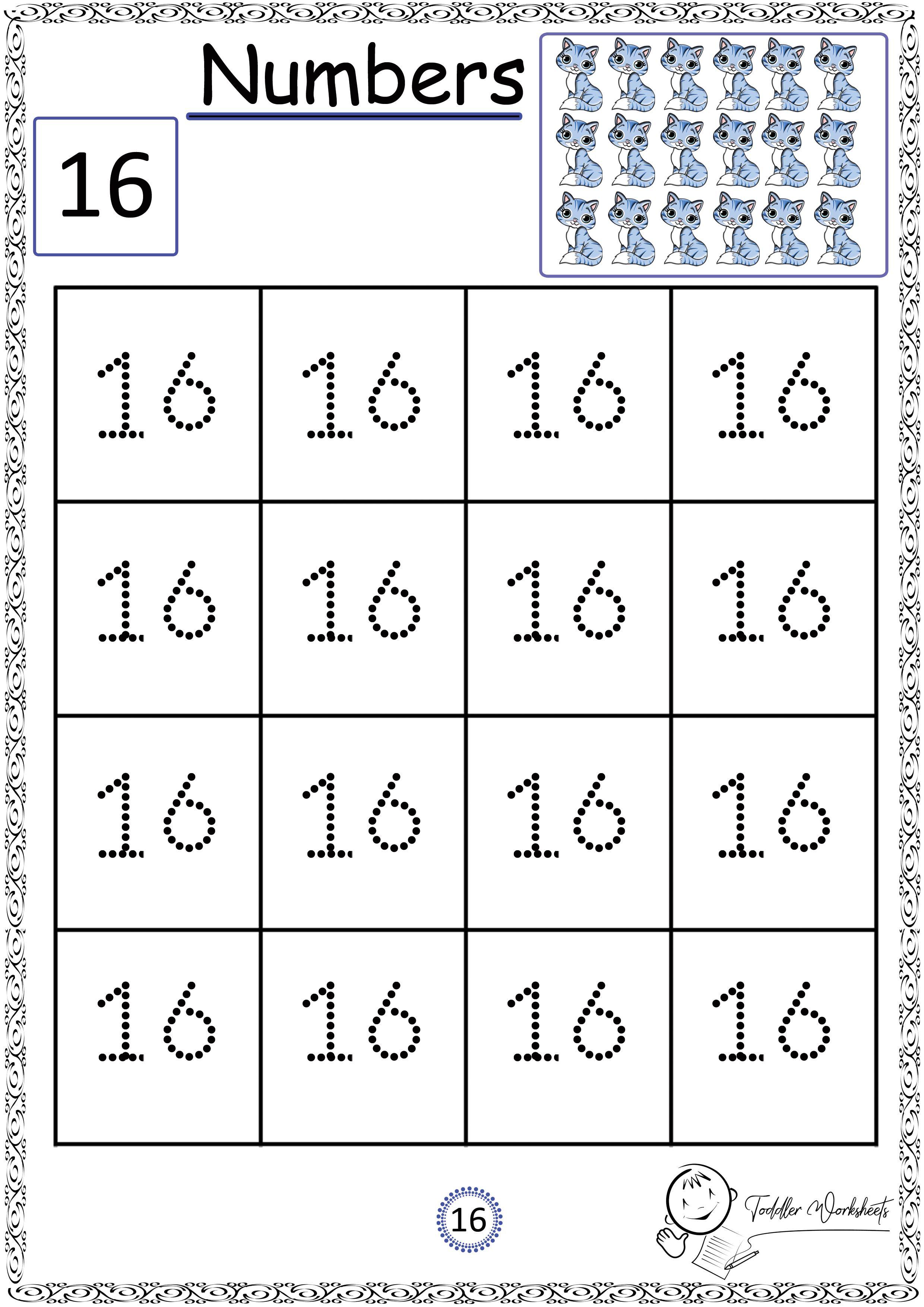 Free Preschool Numbers Worksheets